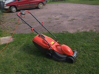 flymo rollermow electric lawn mower   with grass box