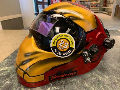 New! Snap-on Tools EFPIRONMAN Iron Man Auto Darkening 180* View Welding Helmet