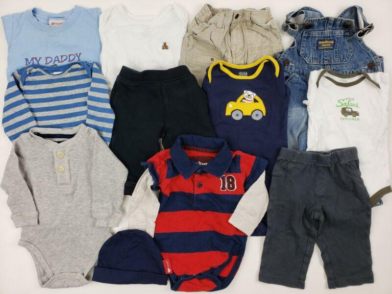6-9 Months Baby Boys Clothes Lot Gap Carters Oshkosh Etc Denim Overalls Bodysuit