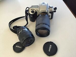 Nikon F60 with Nikon lens 35- 80 and 70-300