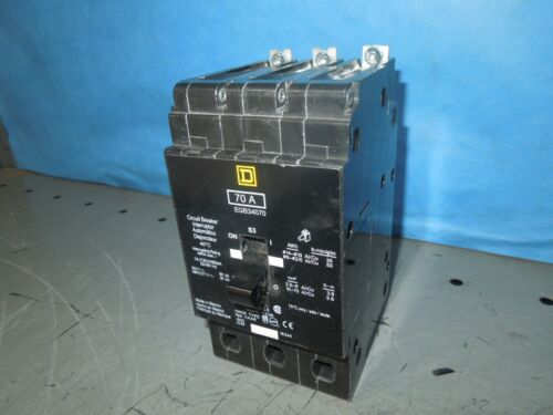 Square D Egb34070 70a 3p 480v 50/60hz Circuit Breaker Used