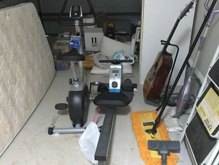 Exercise bike and rowing machine