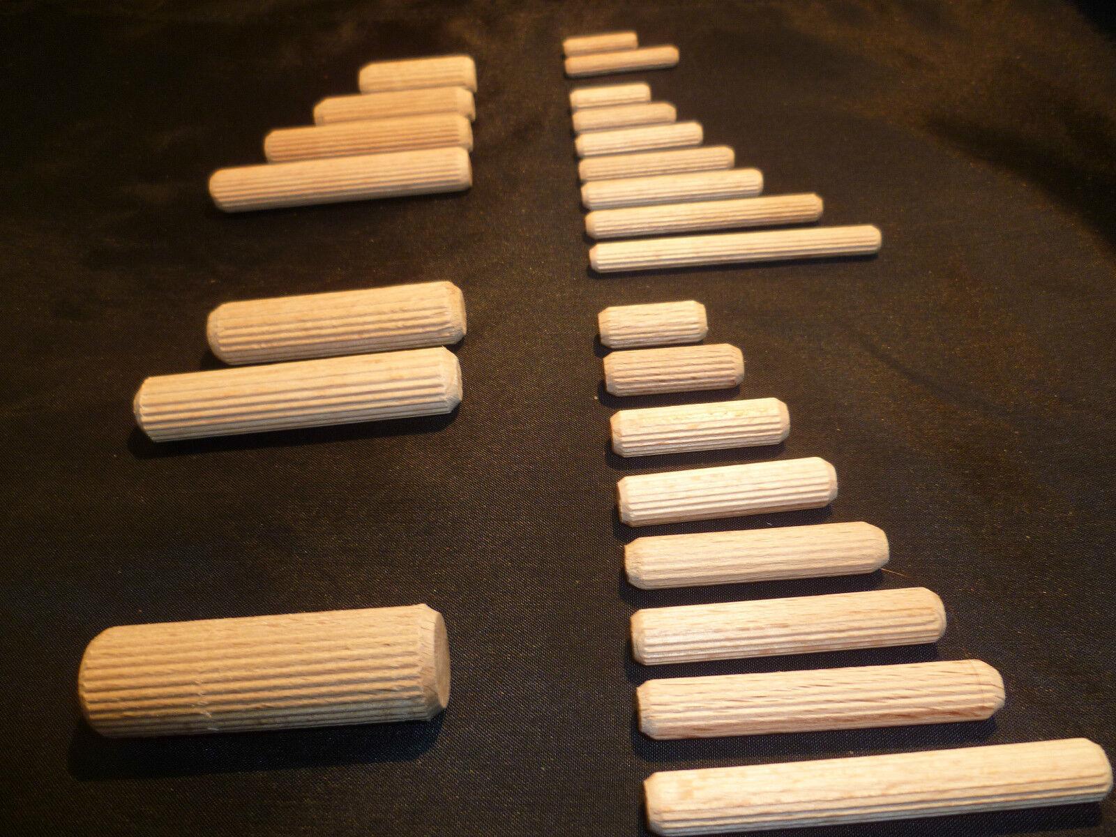 Riffeldübel Holzdübel Holzstifte Dübel Buche Durchmesser 5 -16 mm Staffelpreise