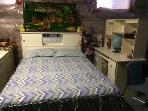 Double bed with lots of storage