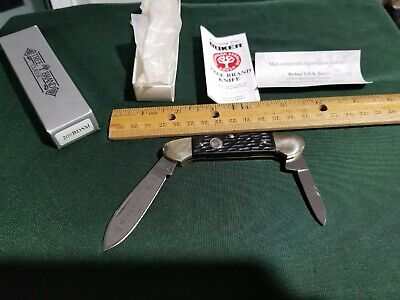 Vintage Boker solingen Germany tree brand # 200 BDSM canoe knife. Bone handle.