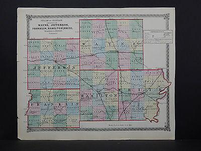 1770 PA MAP CLARION WAYNE JEFFERSON LAWRENCE County BIG