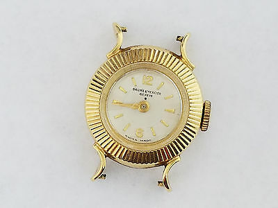 Vintage 18k Solid Gold Baume & Mercier Geneve Watch - 2328