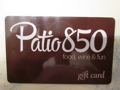 Patio Gift - $25.00 GIFT CARD PATIO 850 Food Wine Dining Restaurant Certificate Eat Travel FL