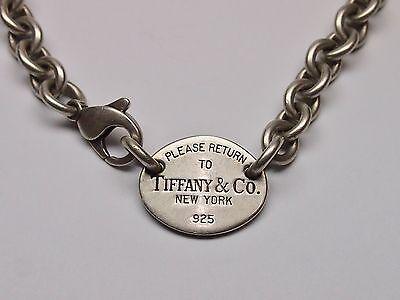 TIFFANY & CO 925 STERLING SILVER NECKLACE, CHOCKER (Tiffany Jewellery Designs)