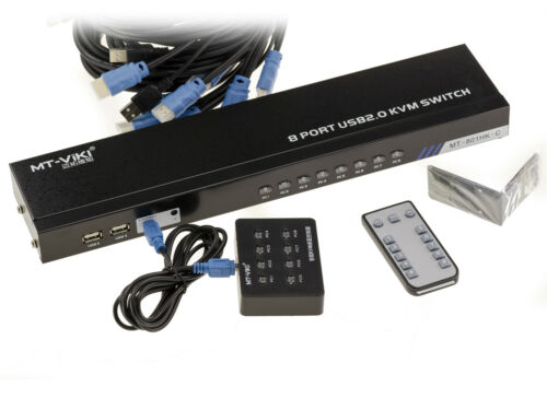 KVM Switch HDMI - USB Automatic - 8 Ports- With Leads