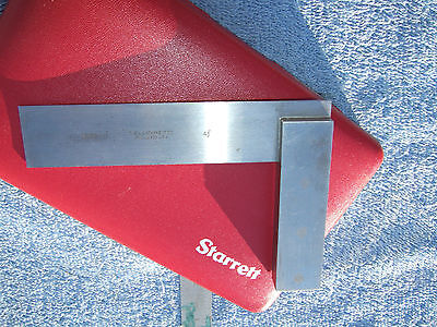 Starrett No.20 4-12 Vintage Square With Case Toolmaker Machinist Usa Squares