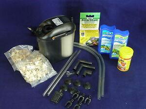 Eden 501 Außenfilter inkl Filtermaterial für Aquarien bis 60 Liter + Geschenke