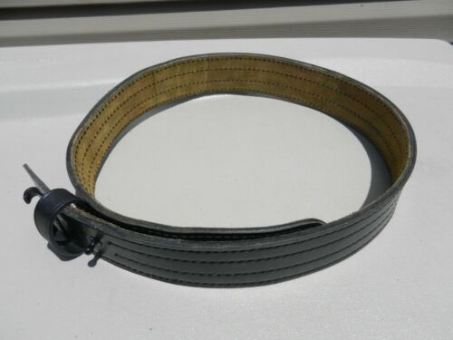 "Safariland Model 87 Black Leather duty Belt 2 1/4"" Wide Size 38"" No Buckle Used"