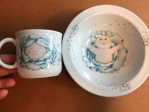 Vintage Cabbage Patch Bowl and Mug