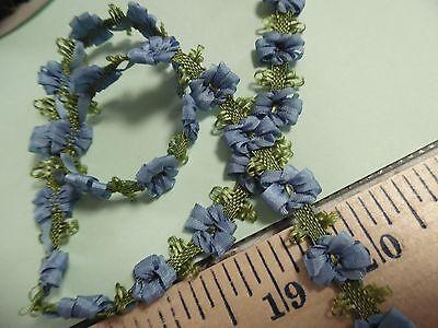 (SILKY FLOWER TRIM~FRENCH BLUE~1/2