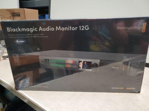 Blackmagic Design Audio Monitor 12G Audio and Video Monitoring #HDL-AUDMON1RU12G