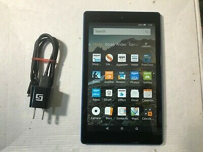"""Amazon Kindle Fire HD 8""""  7th Generation 16G/32GB Blue SX043QT"""