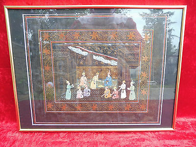 Pretty Picture___Oriental Miniature ___ Framed___