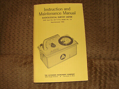 Victoreen Cdv715 Model 1a Radiation Detector Manual