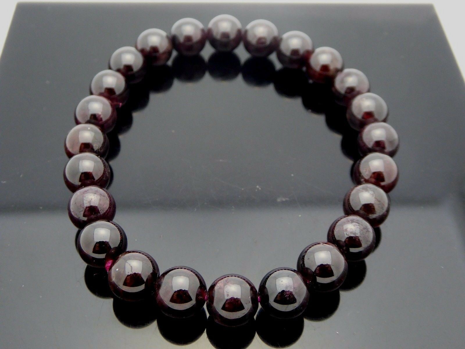 and hematite healing pin red gemstone bracelet natural beaded garnet