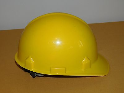 Jackson Yellow Plastic Adjustable Size Hard Hat Meets Ansi Requirements