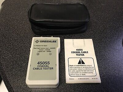 Greenlee 45055 Coaxial Cable Tester With Casegood Condition Free Shipping