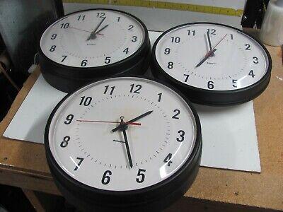 "VINTAGE SIMPLEX Glass Dome Industrial School Wall Clock 13"" 115 Volts Plug 6310"
