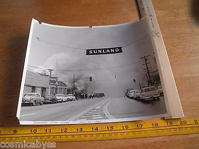 Los Angeles Fire Department Store Sunland fire 1964 8x10