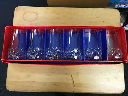 Bohemia crystal cups Wallsend Newcastle Area Preview