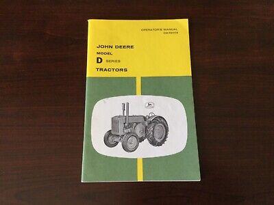John Deere D Series Tractor Operators Manual