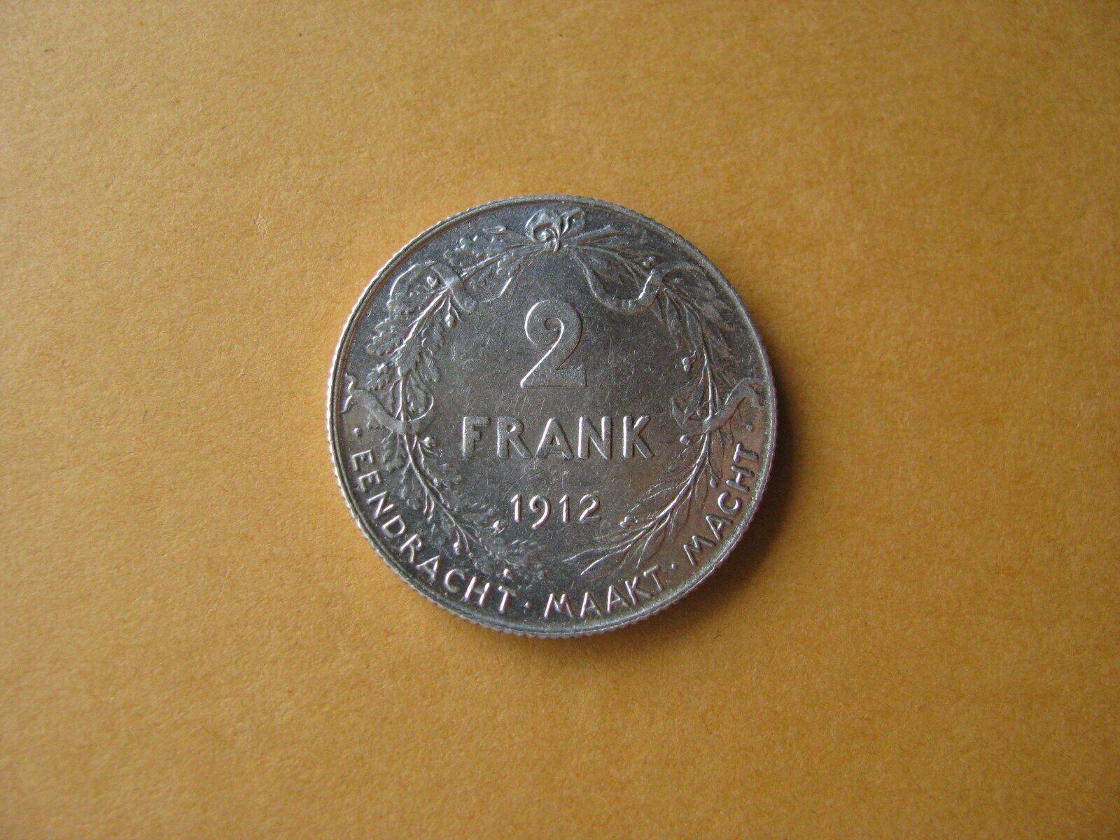 2 Francs, Albert I en néerlandais 1912-TTB+/superbe.
