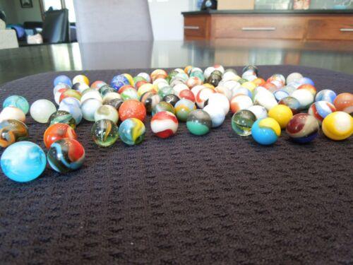 100 Vintage Machine Made Collectible Marbles Akro Peltier Christensen Lot #100A