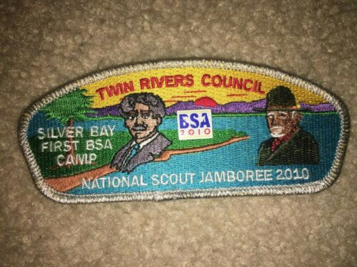 Boy Scout Twin Rivers Camp Silver Bay Beard Seto Council 2010 Jamboree JSP Patch