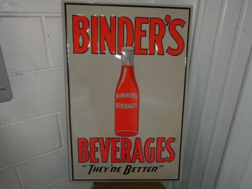 BINDERS BEVERAGE SODA SIGN EMBOSSED