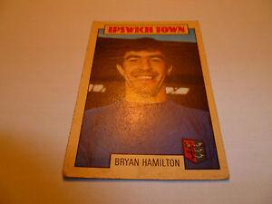 A&BC Chewing Gum Football Card 1973/74 Blue Back 114 BRYAN HAMILTON IPSWICH TOWN