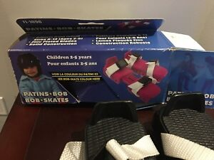 Bob skates.   Children ice skates
