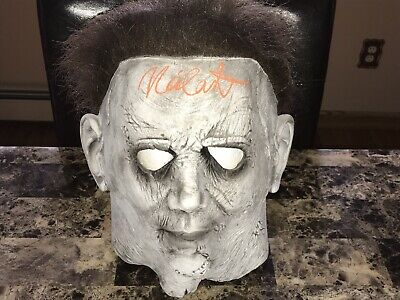 Halloween Rare Signed Michael Myers Movie Prop Mask Nick Castle 1978 Photo Proof](1978 Halloween Movie Mask)