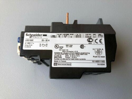 Schneider Electric Telemecanique LRD1532 Bimetallic Overload Relay 600V 32A IEC
