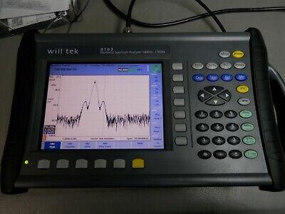 Willtek Acterna Aeroflex 9103 Spectrum Analyzer 100 Khz To 7.5 Ghz Portable