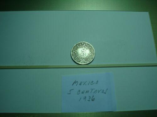 Old World Coins - Mexico 5 Centavos 1936