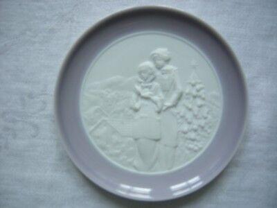 Lladro 16184 Christmas Melodies Plate Handmade in Spain NO BOX