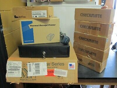 Lot Of Point Of Sale Items Readers Cash Drawers Receipt Printer Upc Scanner