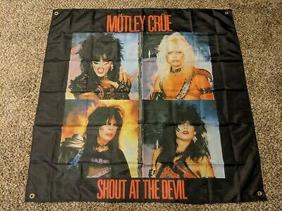 MOTLEY CRUE Shout at the Devil BANNER HUGE 4X4 Ft Fabric Poster Tapestry Flag