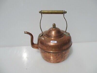 Victorian Copper Kettle Brass Handle Knob Antique Old Teapot Hob Acorn Vintage