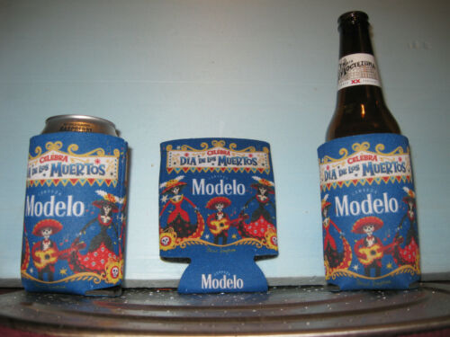 Day of the Dead 12 oz Beer Koozie x3 Ships FREE First Class Mail Modelo Cerveza