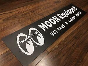 Mooneyes Moon equipped hot rods and kustom supply sign Kurunjang Melton Area Preview