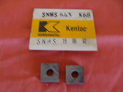New Old Stock Kennametal Carbide Inserts Snms643 K68 Snms190612 Lot Of 2
