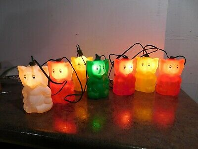 VTG Belco 7 Blow Mold Elephant Patio Lites RV Camping Party Patio Light String