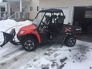 2014 Arctic Cat with plow
