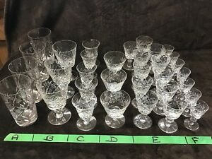 Cross and Olive crystal stemware -32 items in total-3 pictures